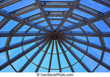 Steel and glass dome