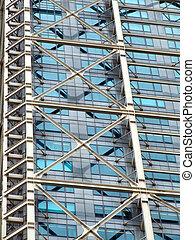 Steel and glass skyscraper