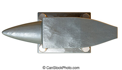 Steel Anvil Top - A top view of a heavy steel black anvil...