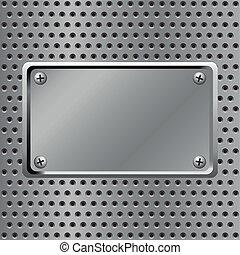 Steel background - metal plate steel background
