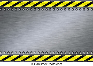Rivets in textured steel background