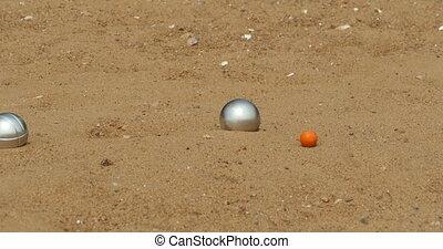 steel balls petanque - Large steel balls game of petanque...