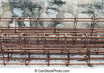 Steel bar, Rebar for construction, Rust on steel wire, Steel bar rust, Wire steel, Rebar rust