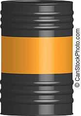 steel barrel in the vector