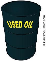 Used oil - Steel barrel oil. Used oil. Vector illustration.