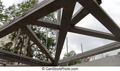 Steel Beam Construction Site