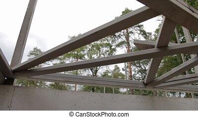 Steel Beam Construction - Steel beam construction on...