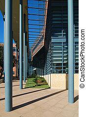 Steel Blue Columns