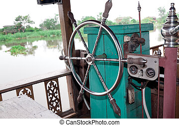 boat steering wheel rudder