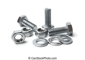 Steel bolts and nuts