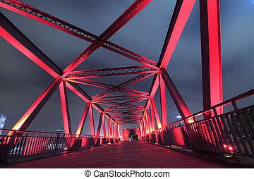Steel bridge close-up