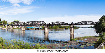 Steel Bridge of the River Kwai in Thailand