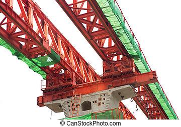 Steel bridge rail construction