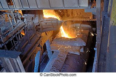 steel buckets to transport molten metal