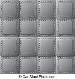 Steel bullet-proof lining - vector texture