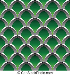 steel cage seamless pattern - steel cage on green background...