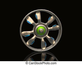 steel car disk 3D rendering