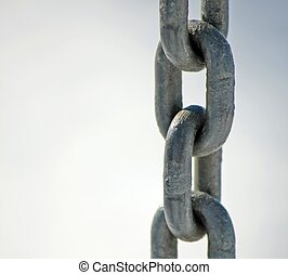steel chain with rings all together vertically