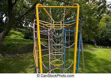 childrens set playground in the garden
