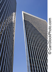 Steel city - Tall and shiny buildings in Los Angeles