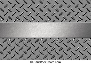 Steel  - Rivets in steel background. Copy space