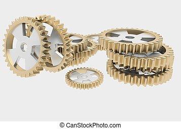 steel cog wheels - Steel cog wheels can be part of antique...