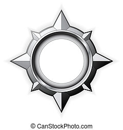 Steel Compass Rose