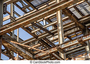 Steel construction - Fragment of a steel construction