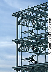 Steel Construction Frame - Steel construction frame of a...