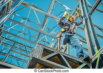Steel Construction House Building and the Caucasian...