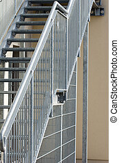 Steel construction - Metal stairs with railings