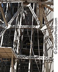 Steel construction patterns, closeup.