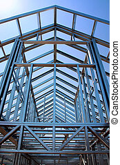 steel construction under the sky