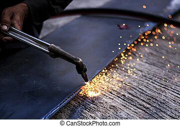 Steel cutter.