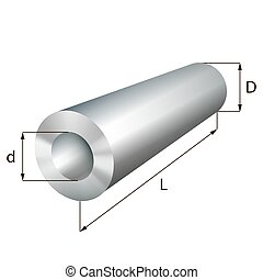 Steel cylinder tube industrial metal object