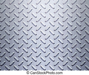 steel diamond plate - a very large sheet of cool silver or ...