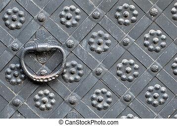 steel door handle horizontal