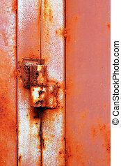 Steel door hinges.