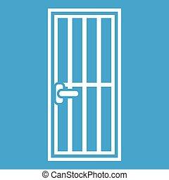 Steel door icon white
