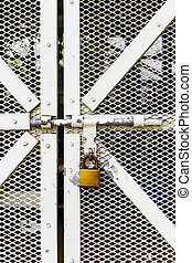 Steel door with lock
