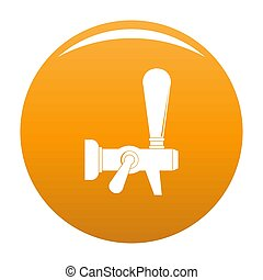 Steel faucet icon orange