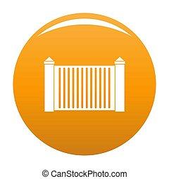 Steel fence icon orange
