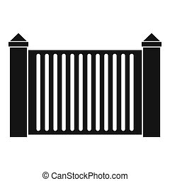 Steel fence icon, simple style.