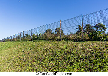 Steel Fence Long Boundary Private