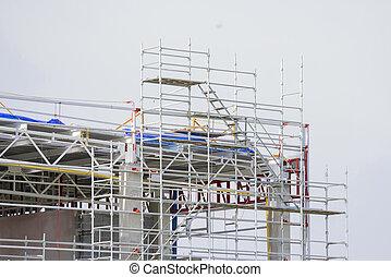 Steel frame for building