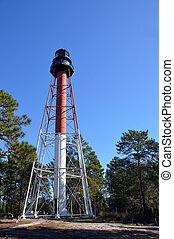 Steel frame lighthouse - A photo of a steel frame lighthouse