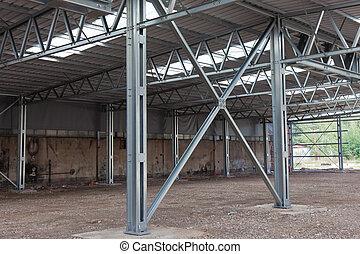 Steel frame structure - Cross bracing of steel structure