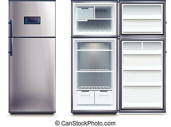 steel fridges set