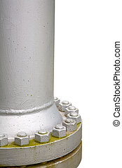 Steel gas pipe - Close up of a steel gas pipe isolated on...