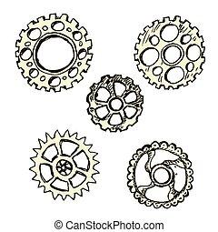 steel gears, steampunk,
